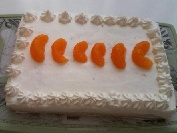Trasený mandarínkový koláč - recept