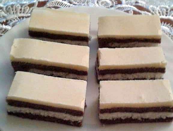 Kokosovo-kakaové rezy so žĺtkovou polevou - recept