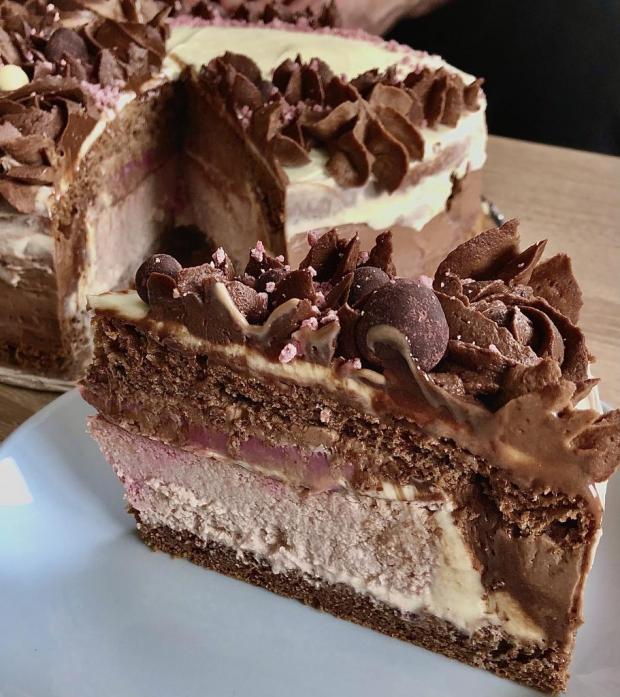 Malinová cheesecake torta - recept