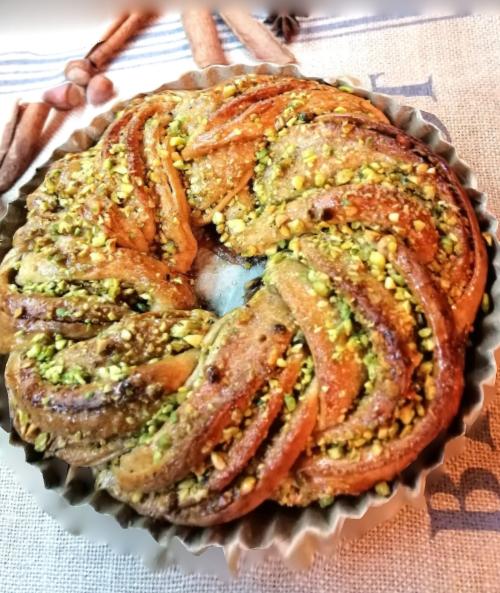 Pistáciový savarín (veniec) - recept