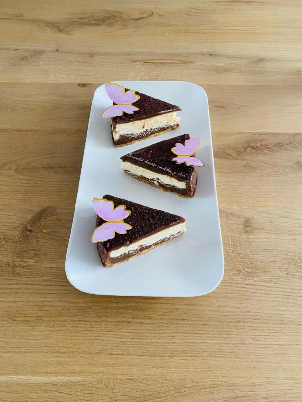 Brownies cheesecake  - recept postup 1