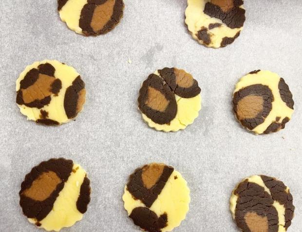 Leopardie keksíky - recept postup 2