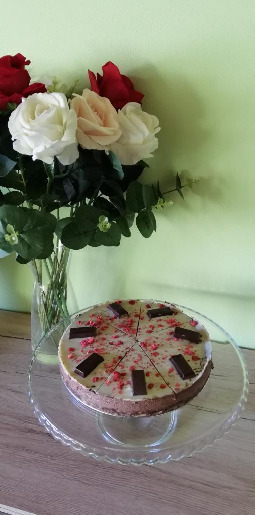 Čokoládový nepečený cheesecake  - recept
