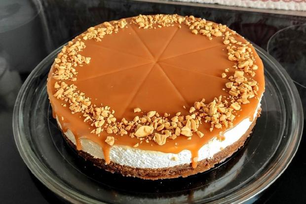 Karamelový cheesecake bez pečenia