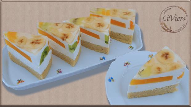 Želatínová torta s exotickým ovocím  1