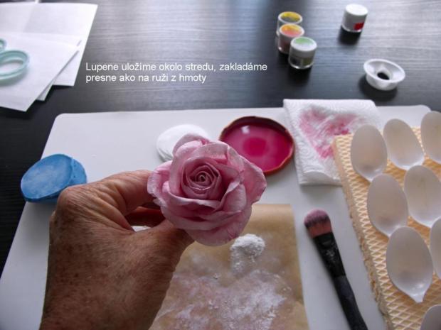 Ruža z jedlého papiera 2 11