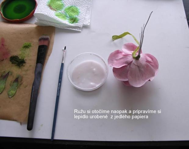 Ruža z jedlého papiera 2 21