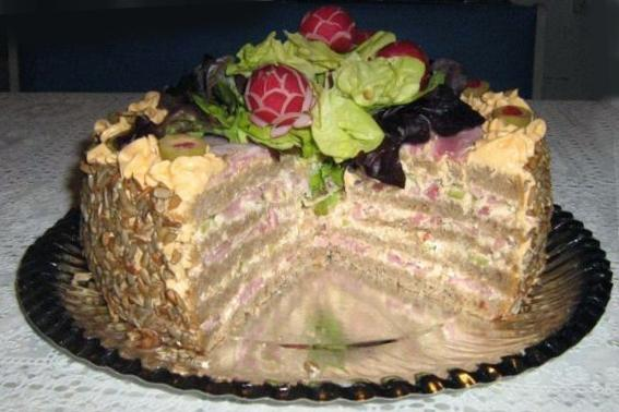 Pikantná slaná torta - fotopostup. - foto postup