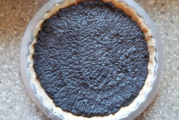 Slivkový koláč s makom - recept postup 4