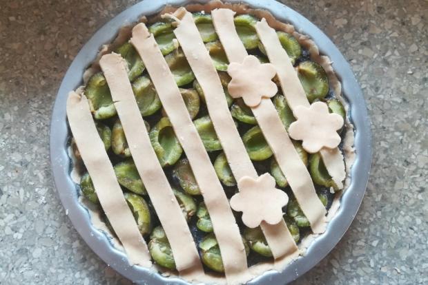 Slivkový koláč s makom - recept postup 6