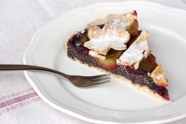 Slivkový koláč s makom - recept postup 8