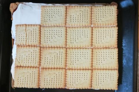 Smotanovo - malinový zákusok - recept postup 8