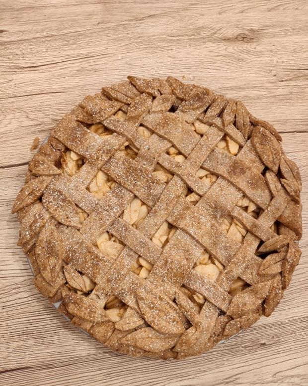 Špaldový jablkový koláč - recept postup 1