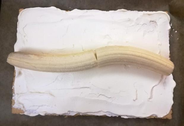 Banánová strieška - recept postup 6