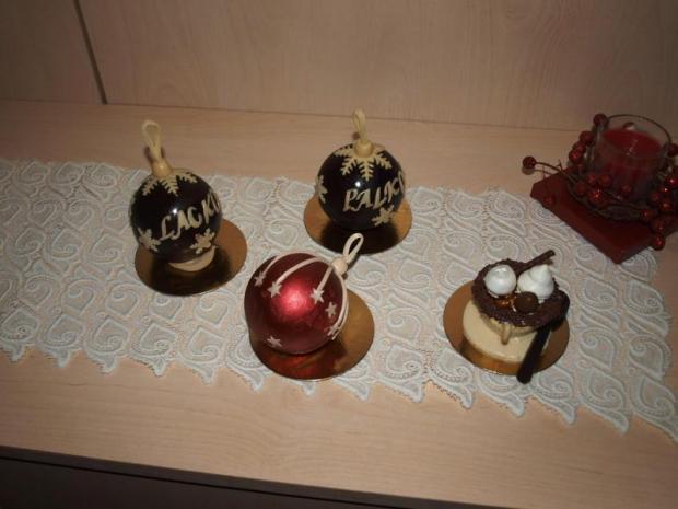 Vianočné čokoládové gule 1
