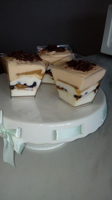 Cheesecake s tiramisu-mascarpone krémom (ako minitortička) - recept postup 1
