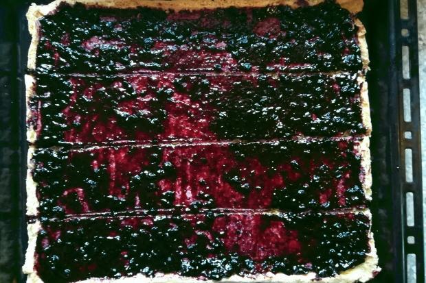 Točená čučoriedková šarlota - recept postup 3