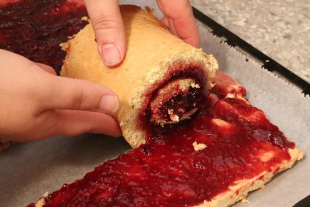 Točená punčová torta - recept postup 4
