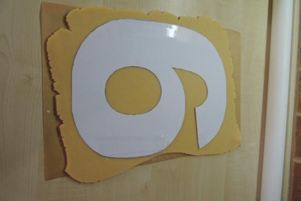 Torta v tvare čísla s fotopostupom - recept postup 3