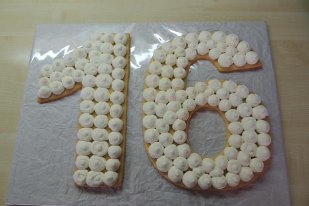 Torta v tvare čísla s fotopostupom - recept postup 6