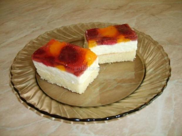 Tvarohovo -ovocné rezy - recept
