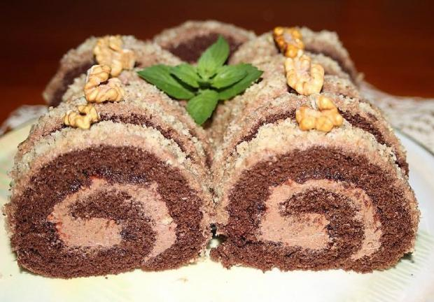 Čokoládová roláda s nutellovým krémom - recept