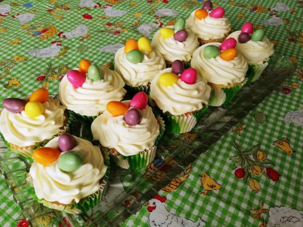 Veľkonočné cupcakes - recept postup 1