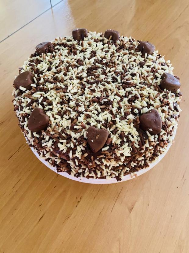 Čokoládovo višňová torta - recept postup 1