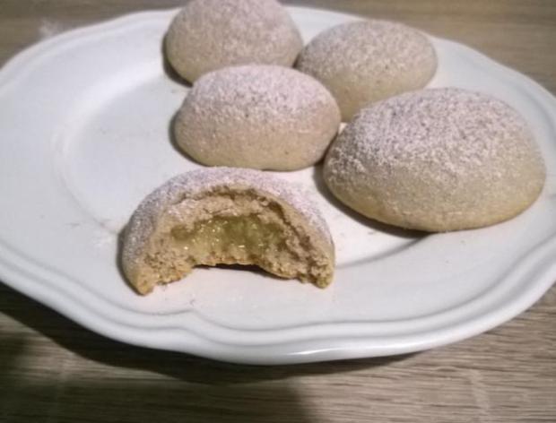 Škoricové keksíky s jablkovou plnkou - recept postup 1