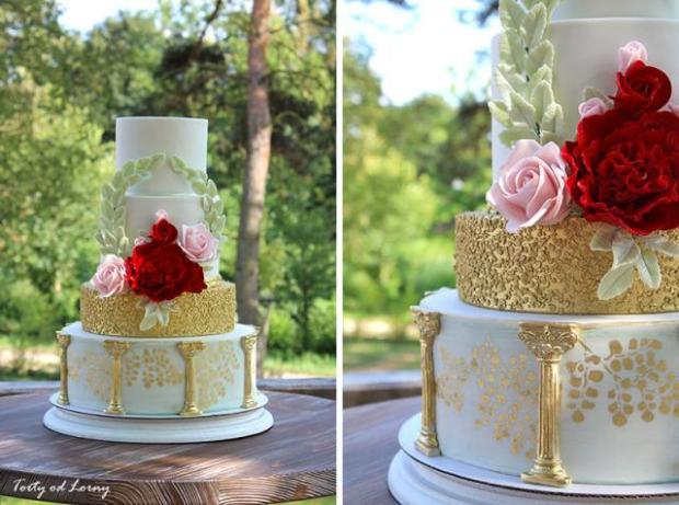 Efektné zdobenie torty ovsenými vločkami - foto postup