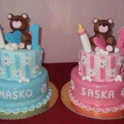 Torta na narodeniny pre dvojičky