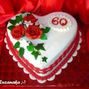 Torta Srdce k 60-ke