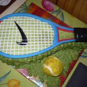 Torta tenisová raketa