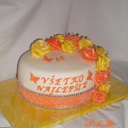 Torta ruže na 18