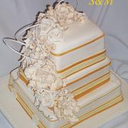 Torta svadobná do zlata...