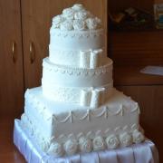 Torta svadobná biela