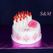 Torta narodeninová so sviečkami