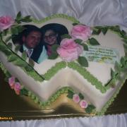 Torta dvojsrdiečko k výročiu sobáša