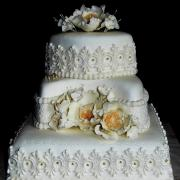 Torta svadobná do zlata