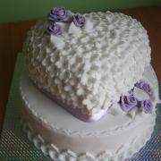 Torta Svadobná fialová 1