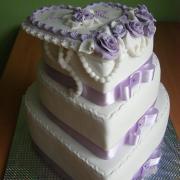 Torta Svadobná fialová 2