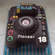 Torta prehrávač pre dídžeja