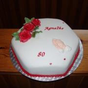 Torta narodeniny 80