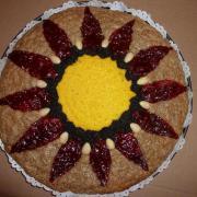 Torta Štedrák - kvetinka
