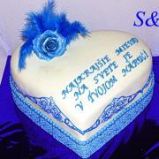 Torta narodeninová s krajkou