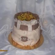 Torta narodeninový mešec