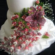 Torta kvety na svadobnú tortu