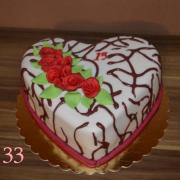 Torta torta srdce k 15.tke