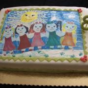 Torta tortička pre moju vnučku /obrázok si nakreslila sama