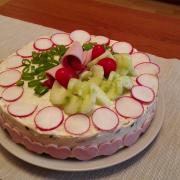 Slaná narodeninová torta